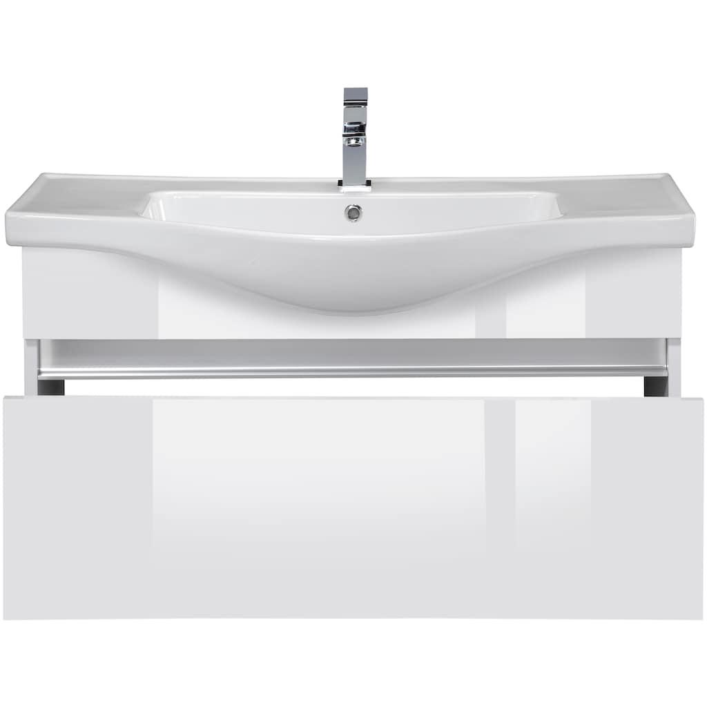 Badmöbel-Set »Dinar«, (3 St.), Premium Waschtisch und Spiegelschrank, Breite 100 cm