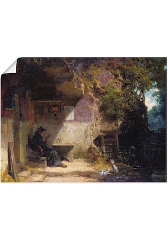 Artland Wandbild »Der Einsiedler vor seiner Klause, Siesta«, Mann, (1 St.), in vielen... kaufen