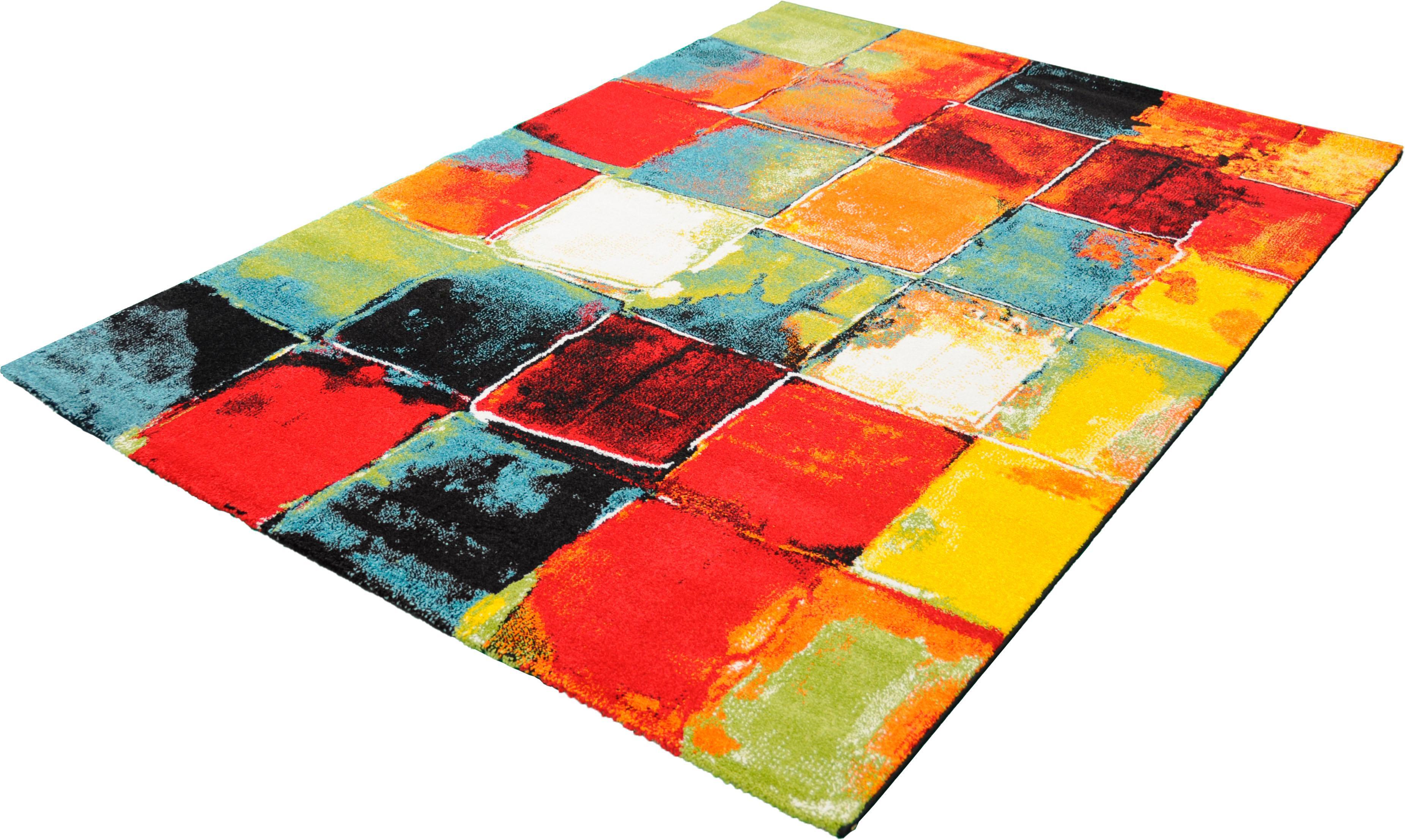 Teppich BELIS PATCHWORK merinos rechteckig Höhe 13 mm maschinell gewebt