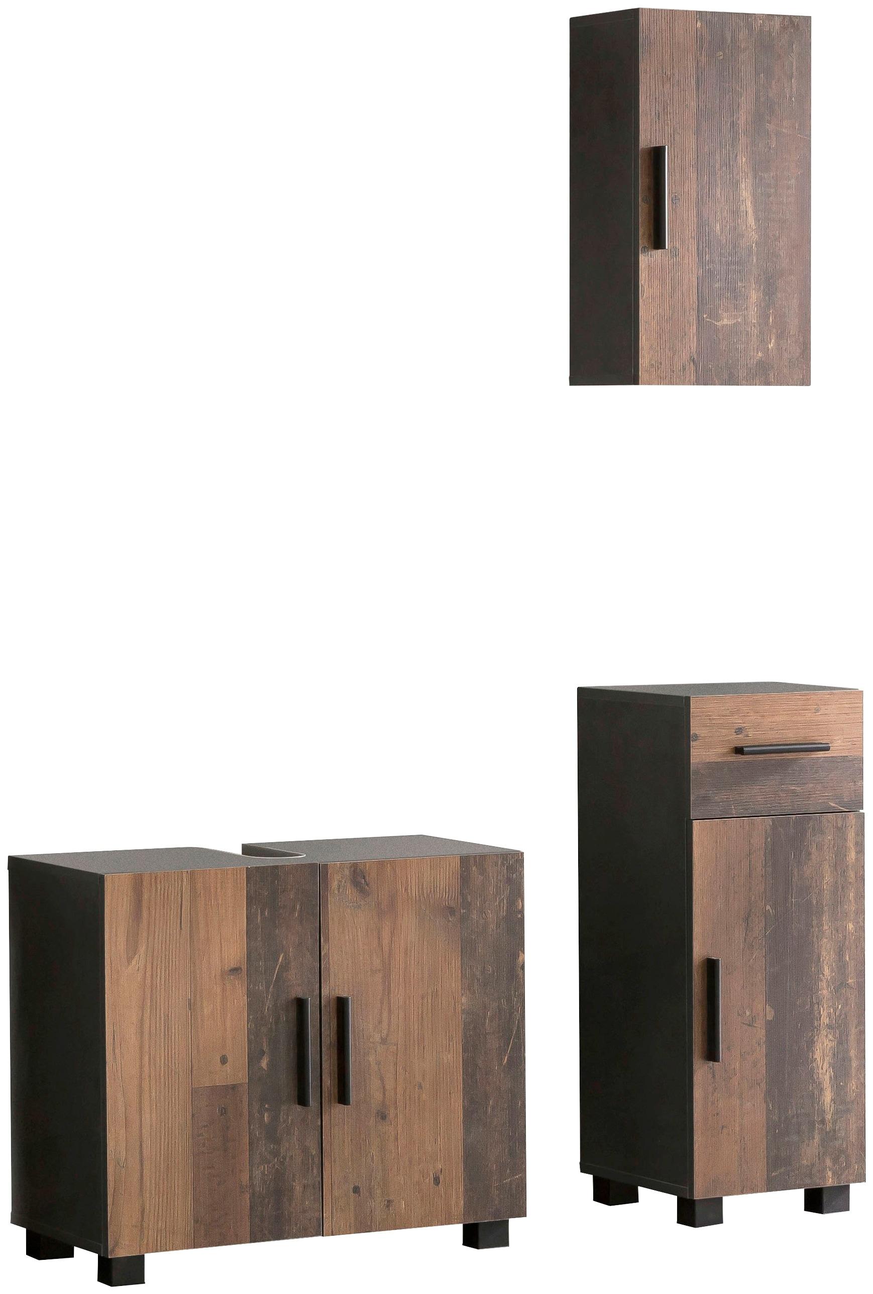 Set: Badezimmer-Set CASA 3-tlg Melamin Oberfläche