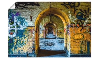 Artland Wandbild »Blick in die Vergangenheit«, Fenster & Türen, (1 St.), in vielen... kaufen