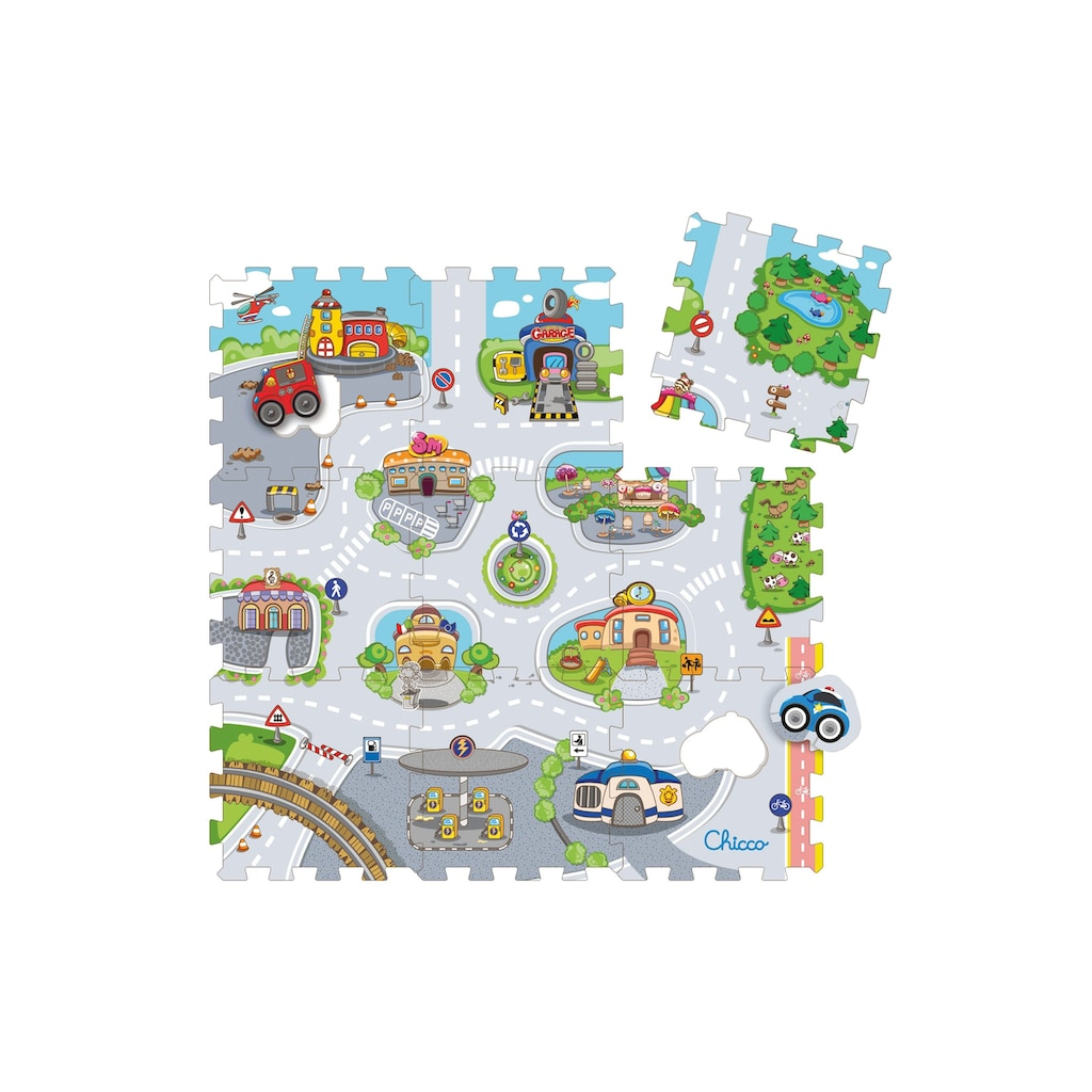 """Chicco Puzzle """"Mov'n Grow, City"""", 11 Teile"""