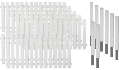 T&J Gartenzaun »Lexington 5«, Kunststoff, 80 cm hoch, 7 Elemente für 13,32 Meter Zaun,... kaufen