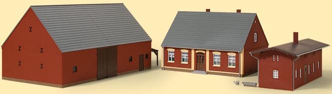 Auhagen Modelleisenbahn-Gebäude Bauernhof, Made in Germany rot Kinder Schienen Zubehör Modelleisenbahnen Autos, Eisenbahn Modellbau