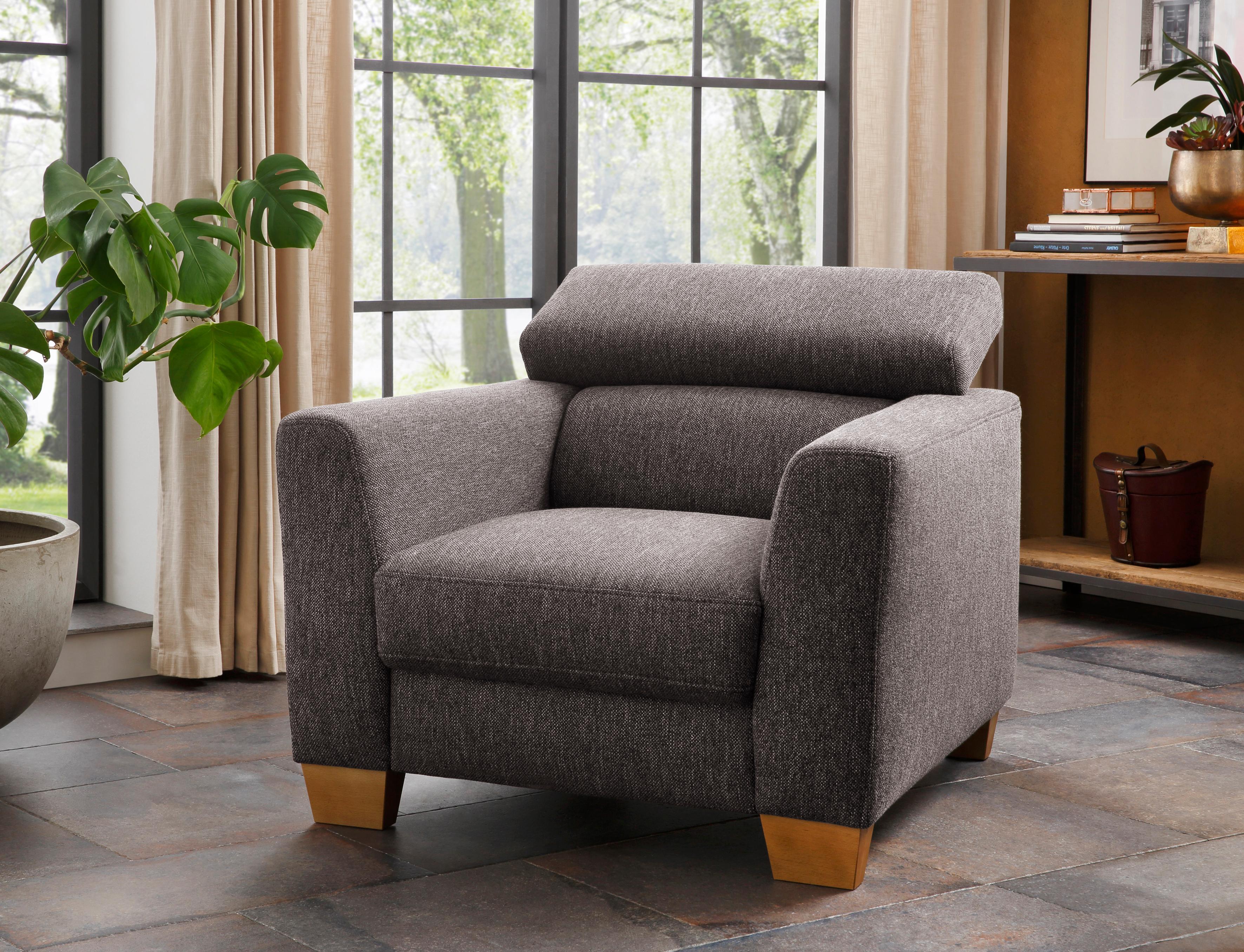 Home affaire Sessel Steve Luxus mit besonders hochwertiger Polsterung für bis zu 140 kg pro Sitzfläche