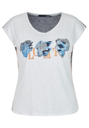 LeComte T-Shirt mit Front-Print und gestreifter Rückseite kaufen