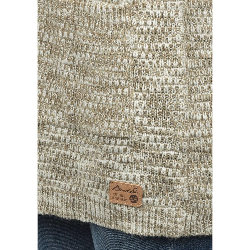 Blendshe Strickjacke »Zoya«, Strickjacke offen geschnitten