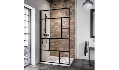 SCHULTE Duschwand »Alexa Style 2.0«, BxH: 100 x 200 cm, Black Style, Walk In kaufen
