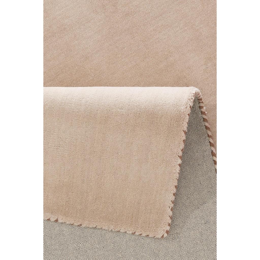 My HOME Wollteppich »Jescha«, rechteckig, 13 mm Höhe, reine Wolle, weiche Haptik, Wohnzimmer