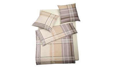 BETTWARENSHOP Bettwäsche »Streifen beige«, herrlich weich und warm kaufen