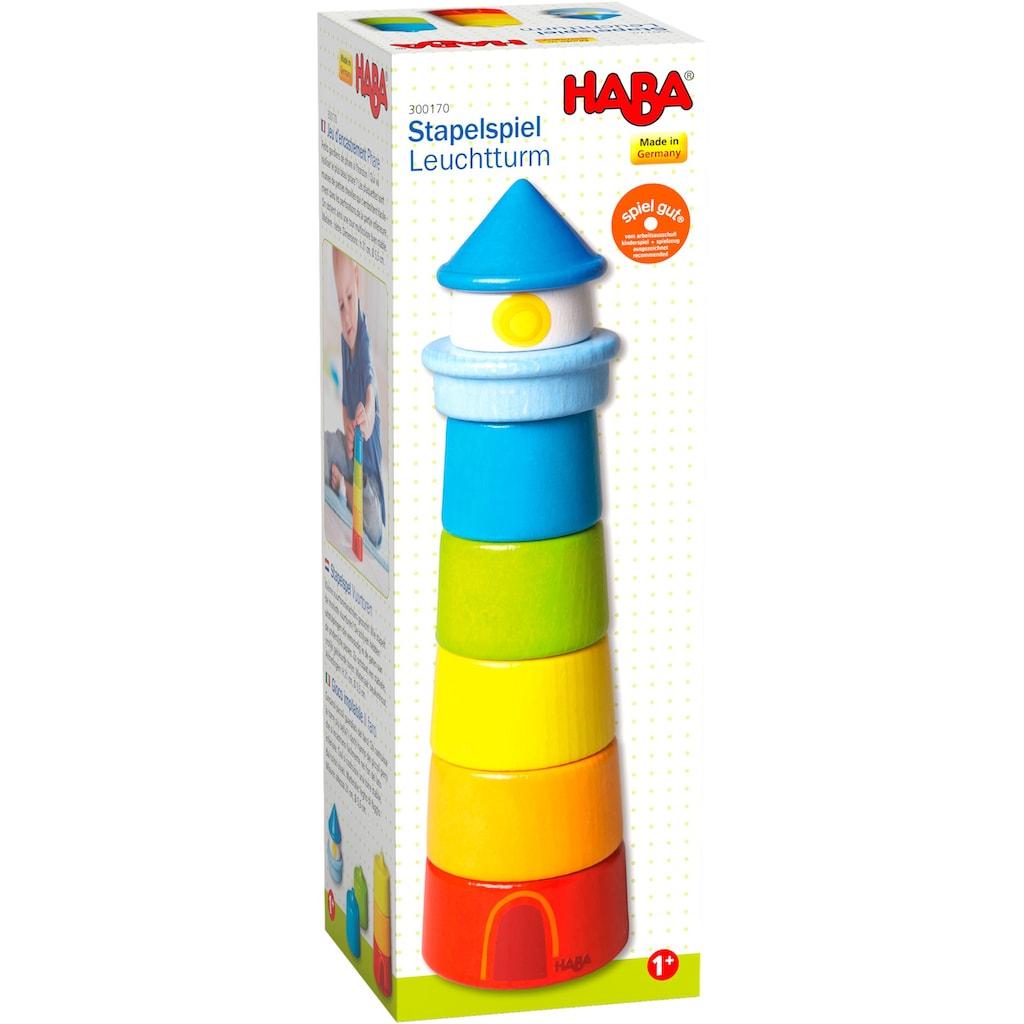 Haba Stapelspielzeug »Leuchtturm«, (7 tlg.), Made in Germany