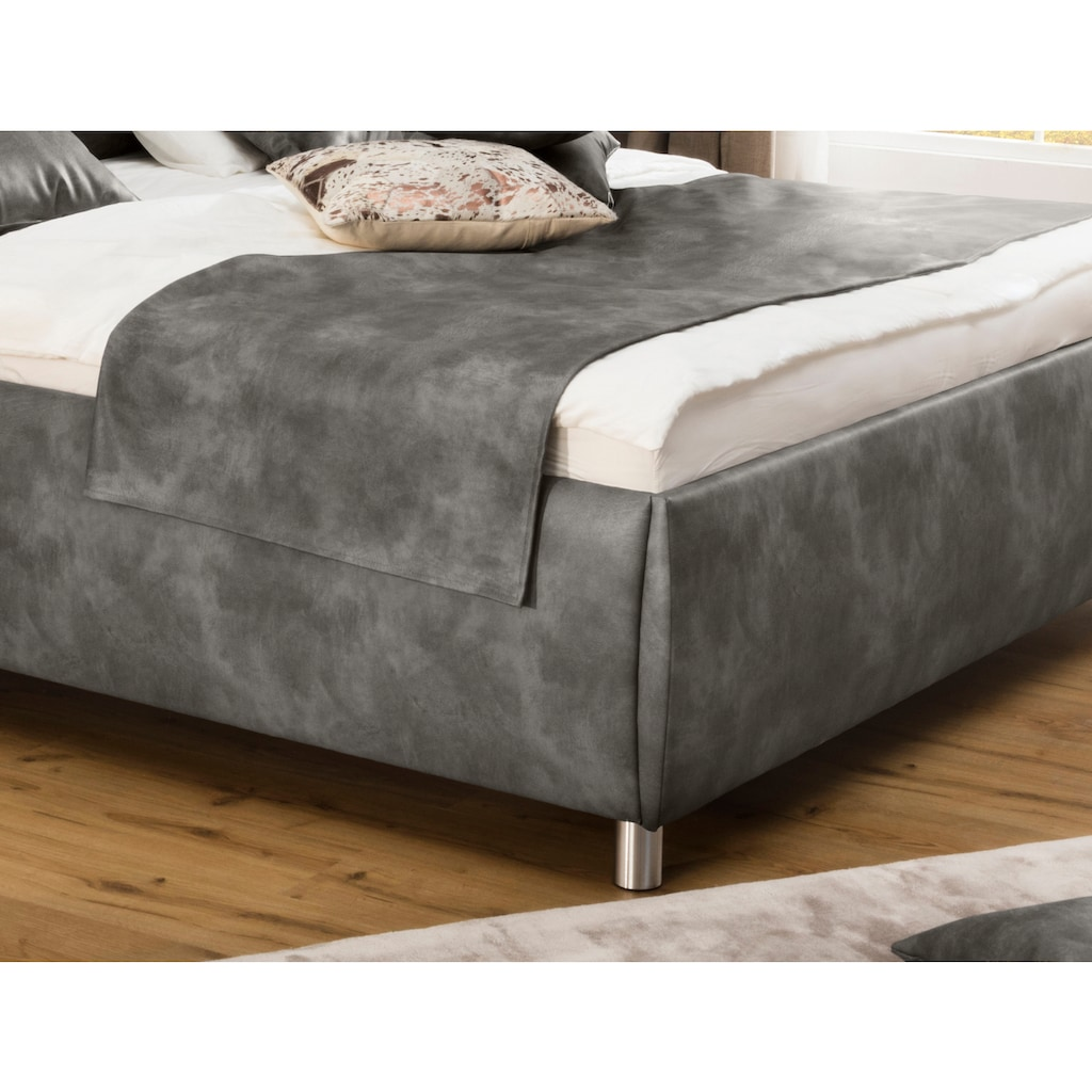 ADA trendline Polsterbett »Nadine«, wahlweise mit Matratze und Lattenrost, in verschiedenen Größen und Härtegraden
