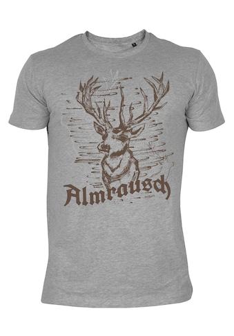 Der Trachtler T - Shirt mit Hirsch - Print »Almrausch« kaufen