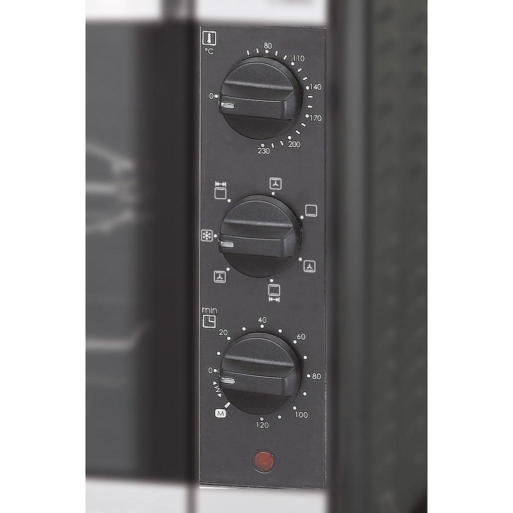 Rommelsbacher Minibackofen »Back & Grill Ofen BG 1805/E«, 1800 W, für Backformen bis 31,5 cm Ø