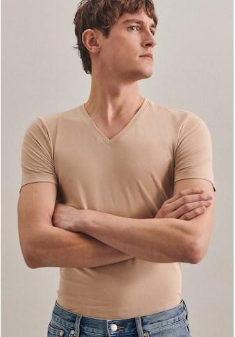 seidensticker T-Shirt »Schwarze Rose«, Kurzarm V-Neck Uni kaufen