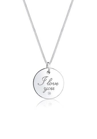 Elli Collierkettchen »I Love You Wording Diamant (0.015 ct) 925 Silber« kaufen