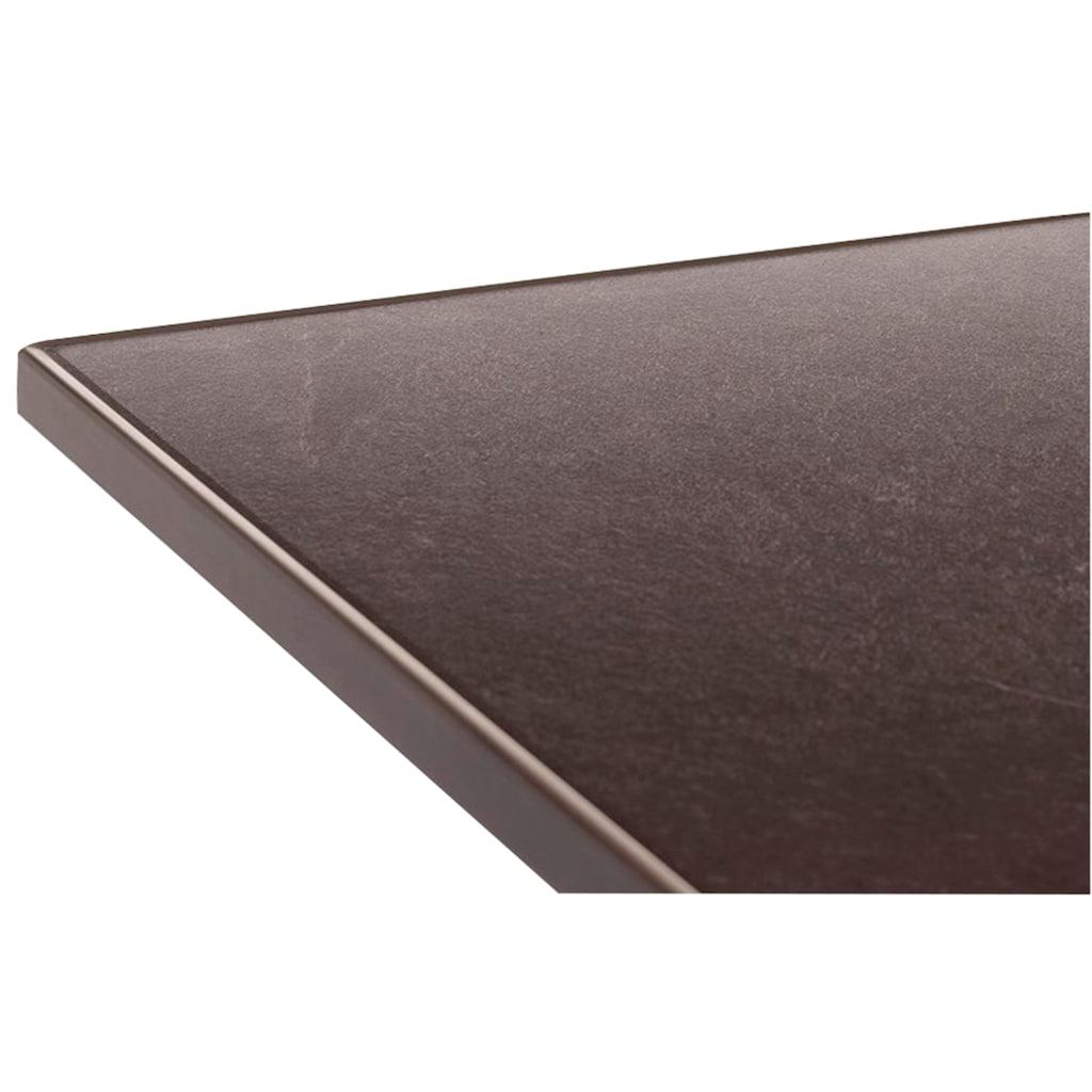 SIEGER Klapptisch Stahl, klappbar, 80 x 80 cm