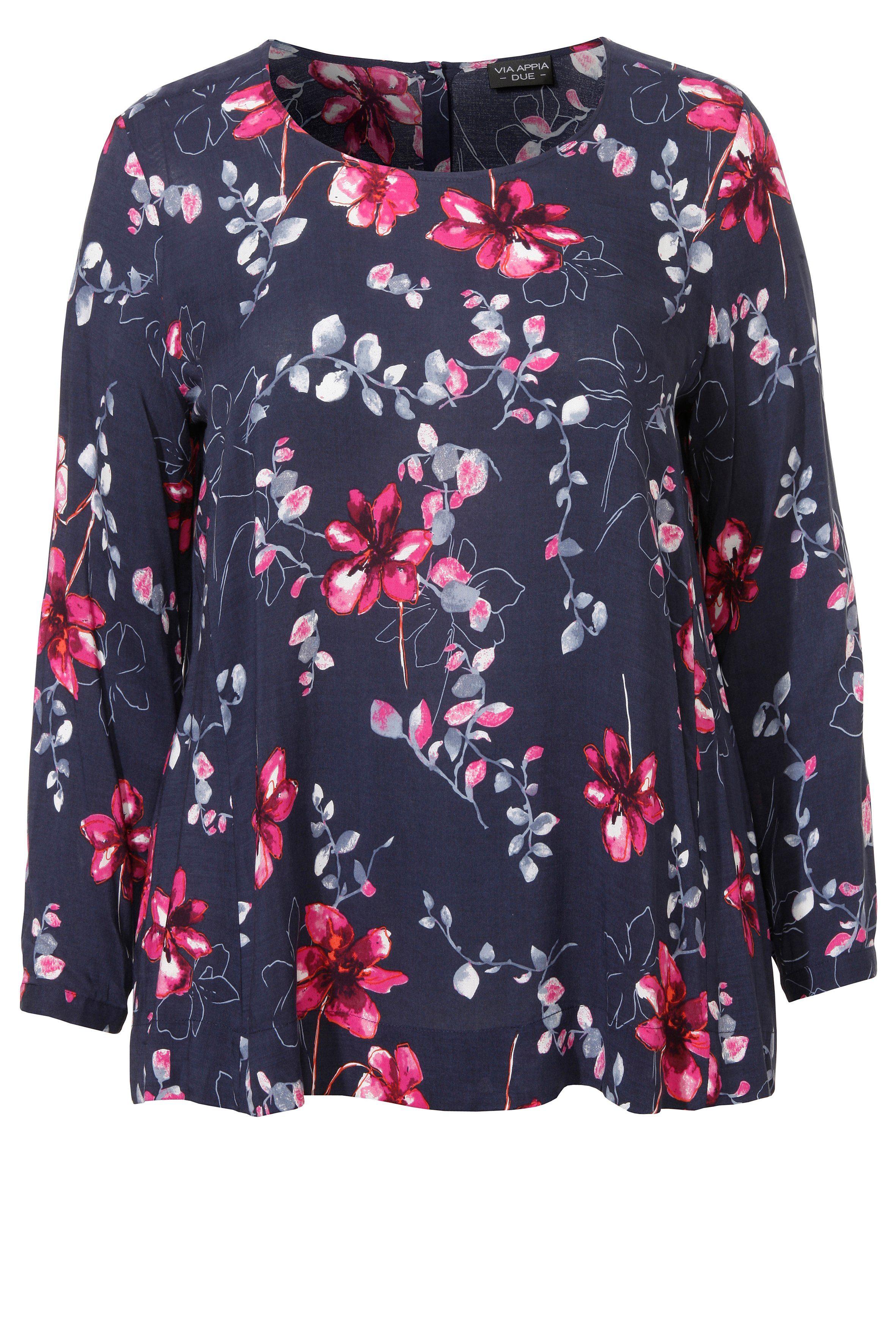VIA APPIA DUE Romantische Bluse mit floralem Print