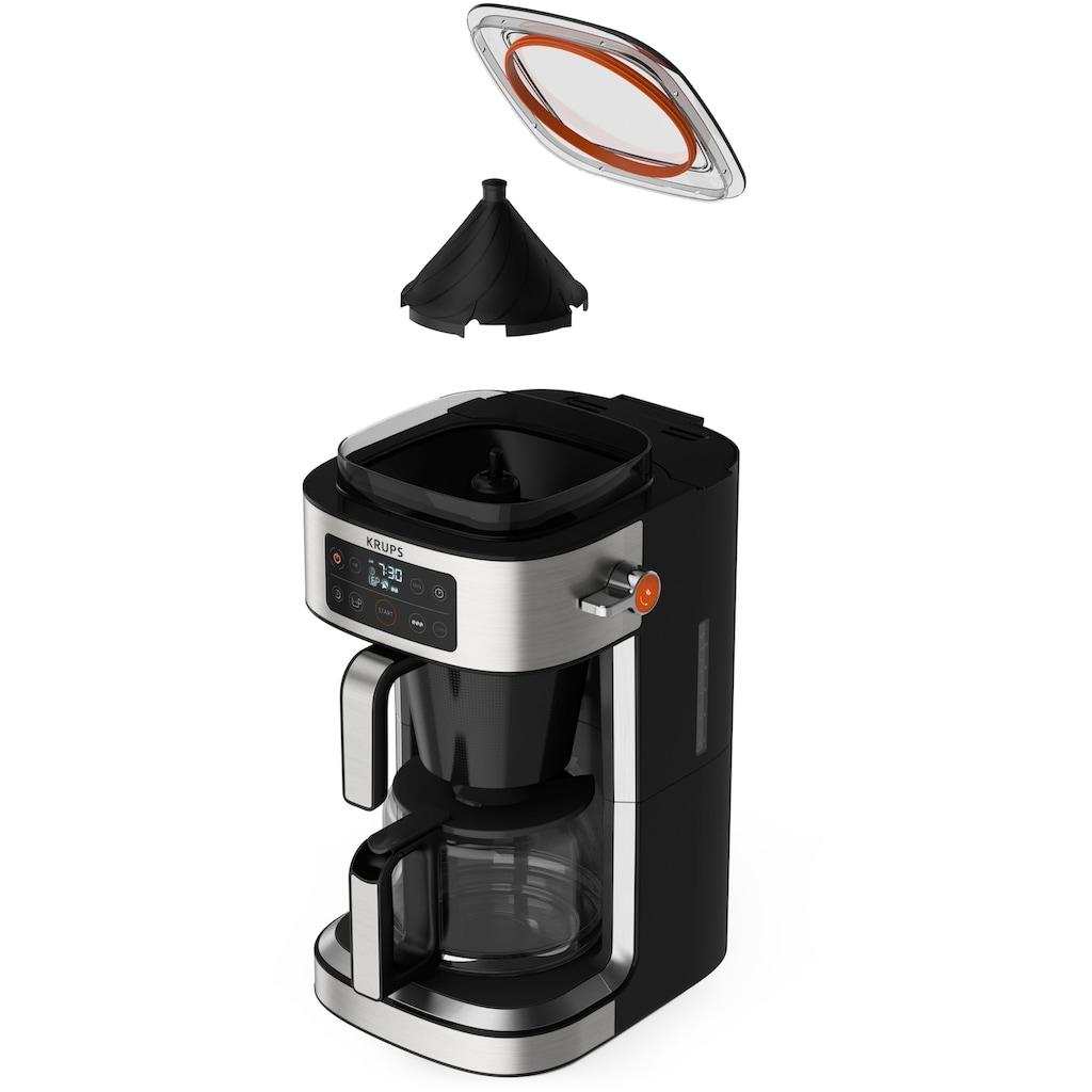 Krups Filterkaffeemaschine »KM760D Aroma Partner«, Integrierte Kaffee-Vorratsbox; Auto-Abschaltung; Timer; 2-10 Tassen; 1,25 L