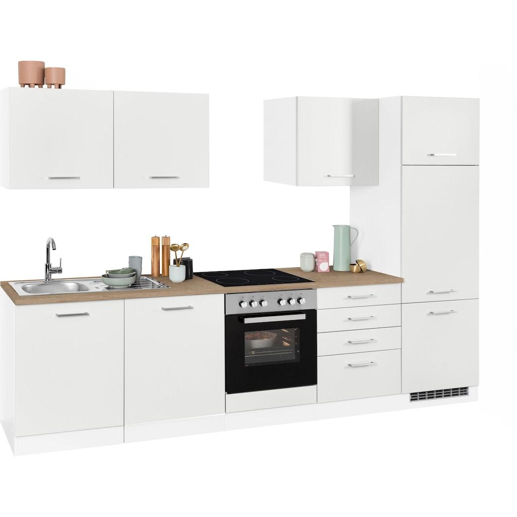 HELD MÖBEL Küchenzeile »Visby«, ohne E-Geräte, Breite 300 cm
