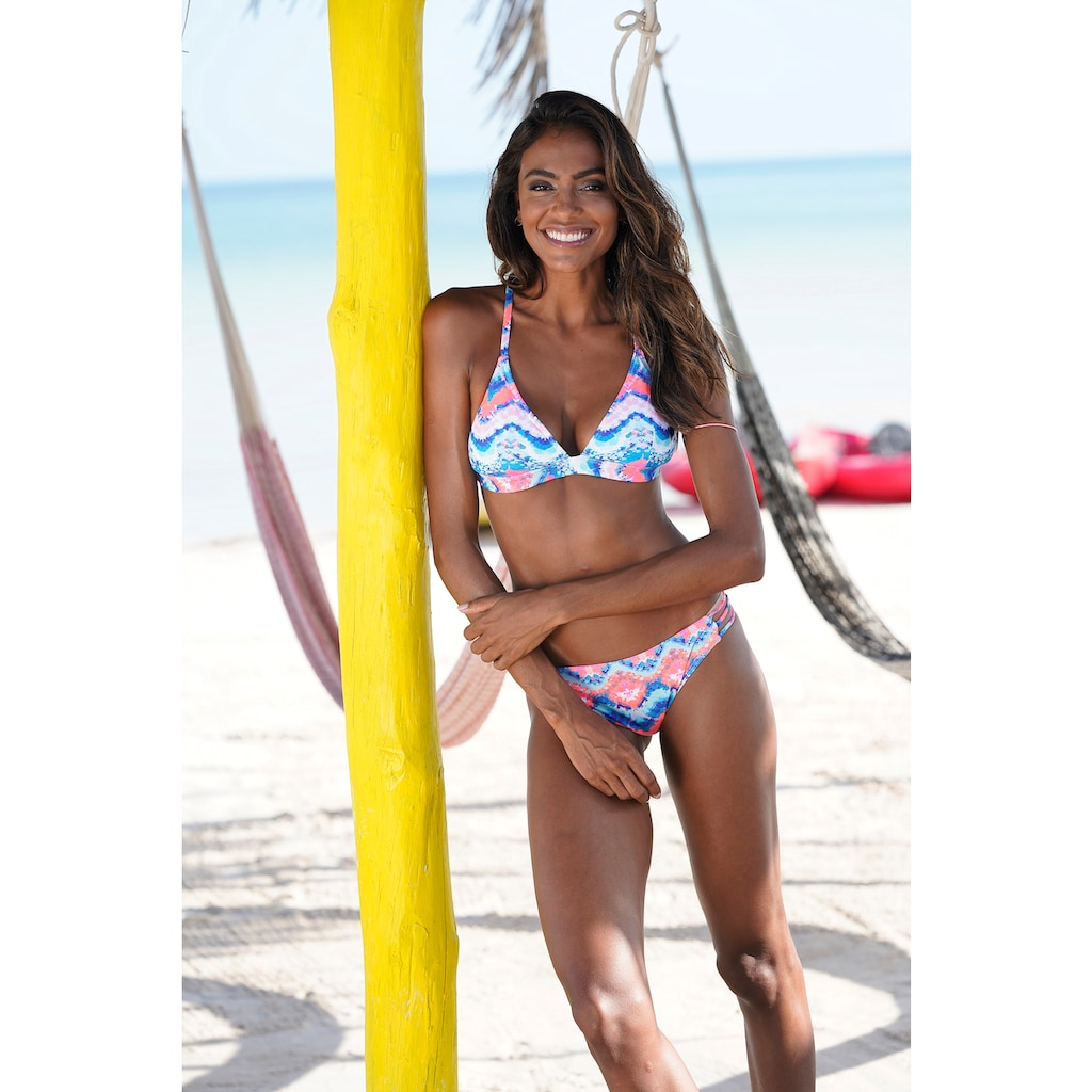 Venice Beach Triangel-Bikini-Top »Face«, mit sommerlichem Print