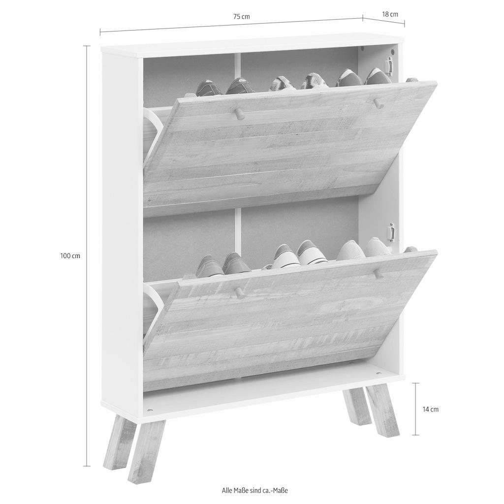 Home affaire Schuhschrank, Rondo», mit 2 Klappen, Breite 75 cm
