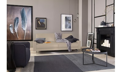 hülsta sofa 3-Sitzer »hs.450«, Fußgestell Chrom glänzend, Breite 204 cm, wahlweise in Stoff oder Leder, mit schmaler Armlehne kaufen