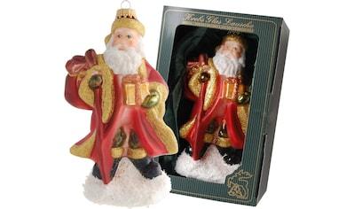 """Krebs Glas Lauscha Christbaumschmuck """"Großer Weihnachtsmann mit Stock und Geschenk"""" (1 - teilig) kaufen"""