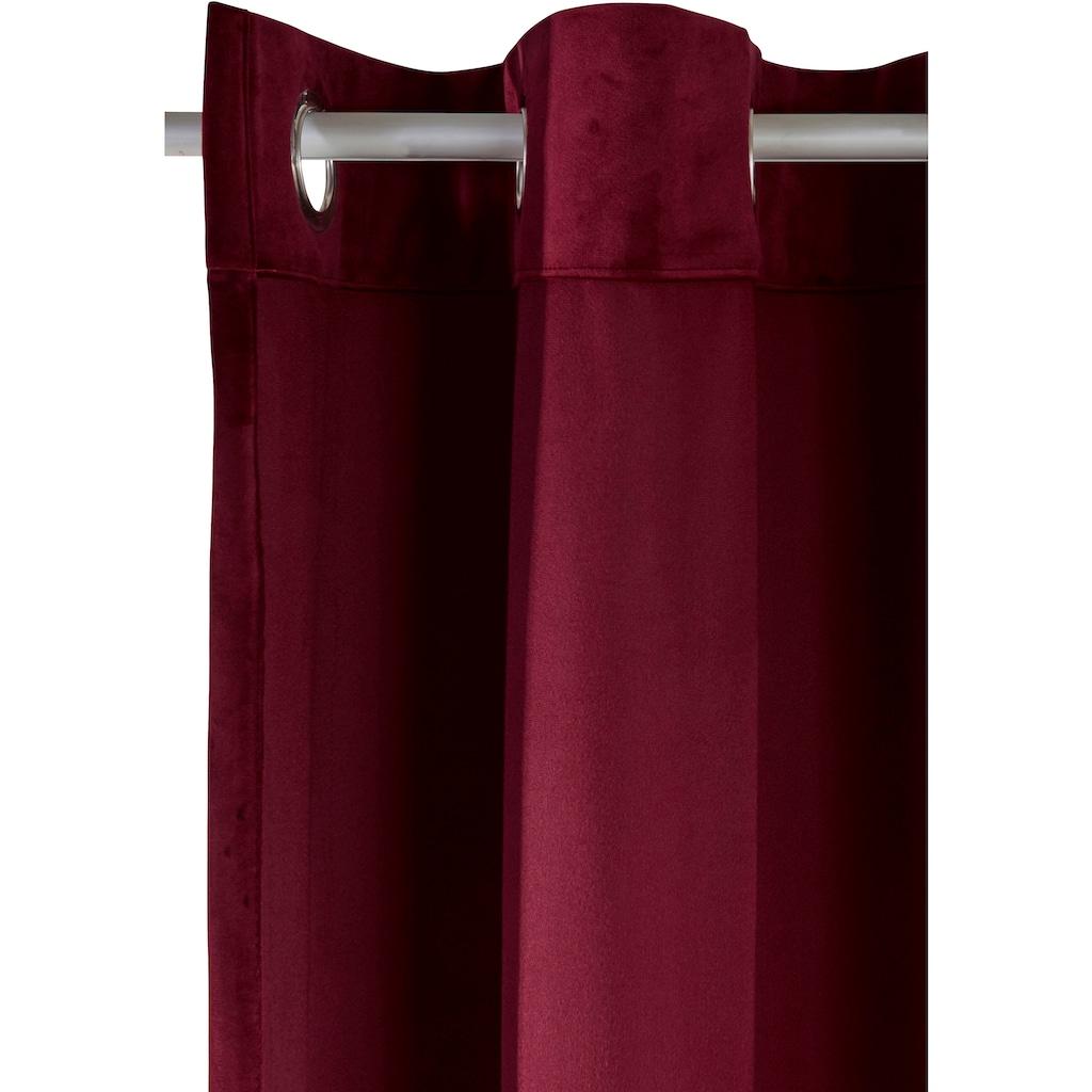 my home Vorhang »Velvet uni«, Samt