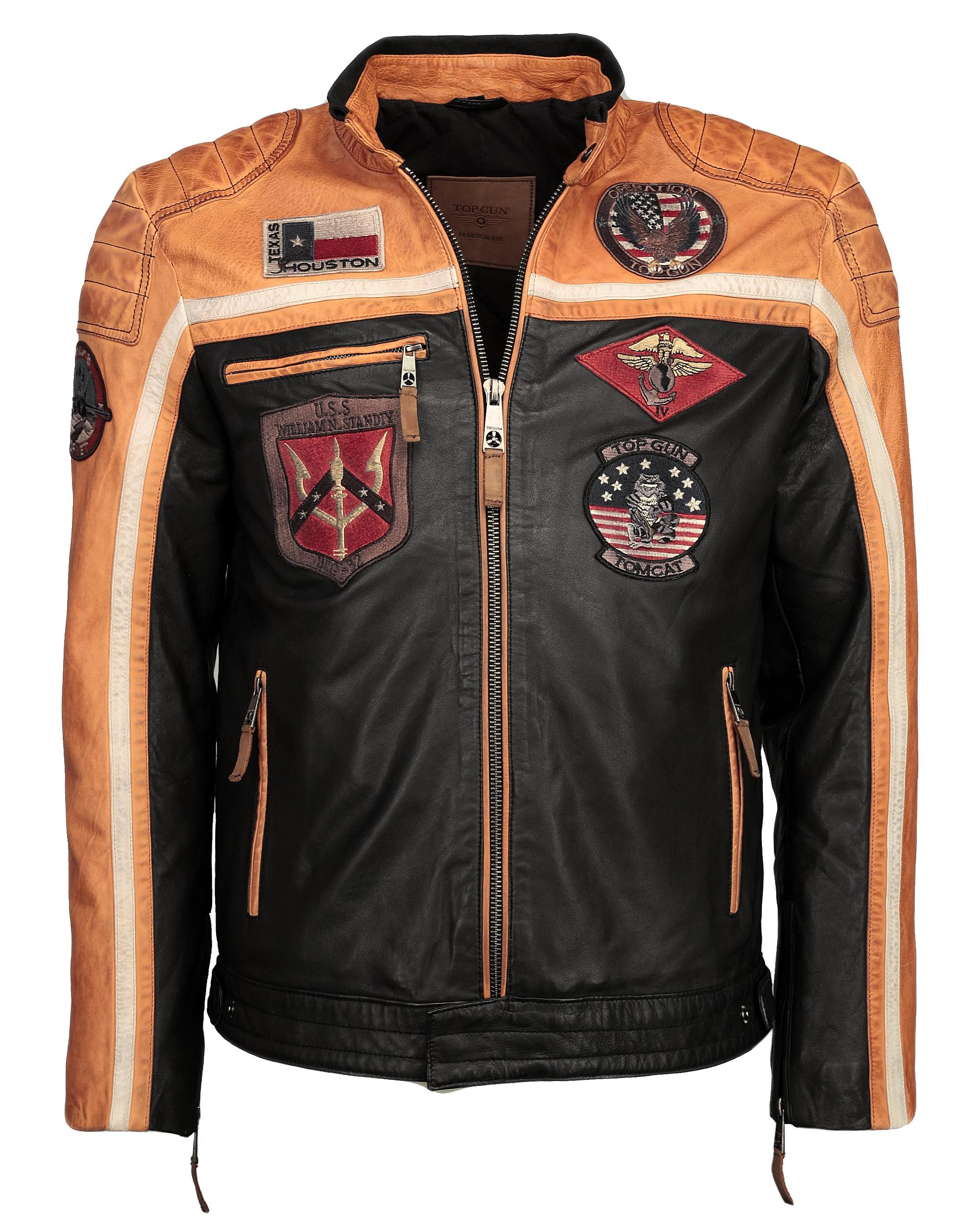 TOP GUN Bikerjacke TG-1005   Bekleidung > Jacken > Bikerjacken   Orange   Top Gun