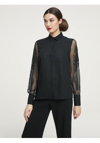 Bluse mit transparenten Ärmeln kaufen