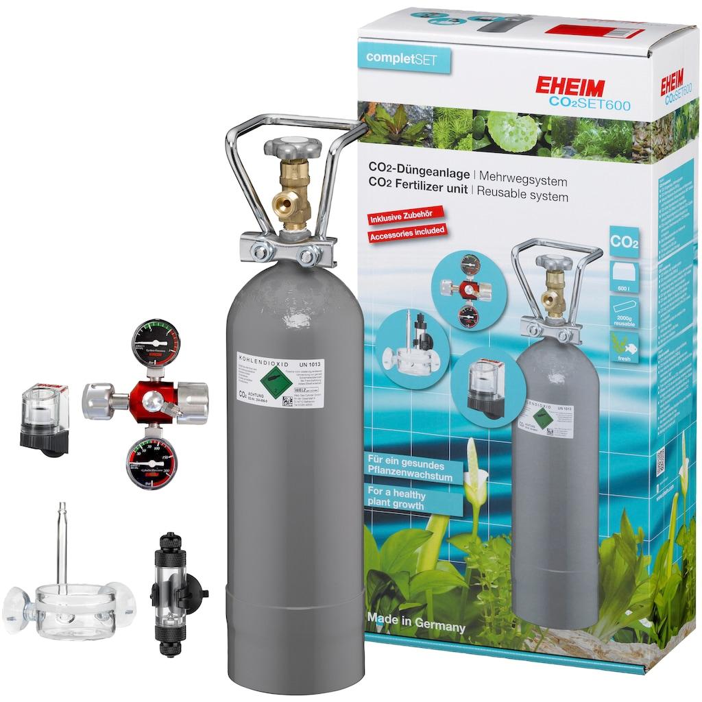 EHEIM Aquariumpflege »SET600«, CO²-Düngeanlage mit 2.000g Flasche, Mehrweg