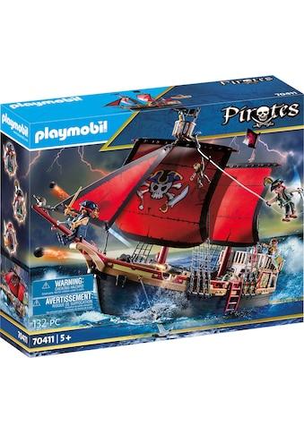 Playmobil® Konstruktions-Spielset »Totenkopf-Kampfschiff (70411), Pirates«, Made in Europe kaufen