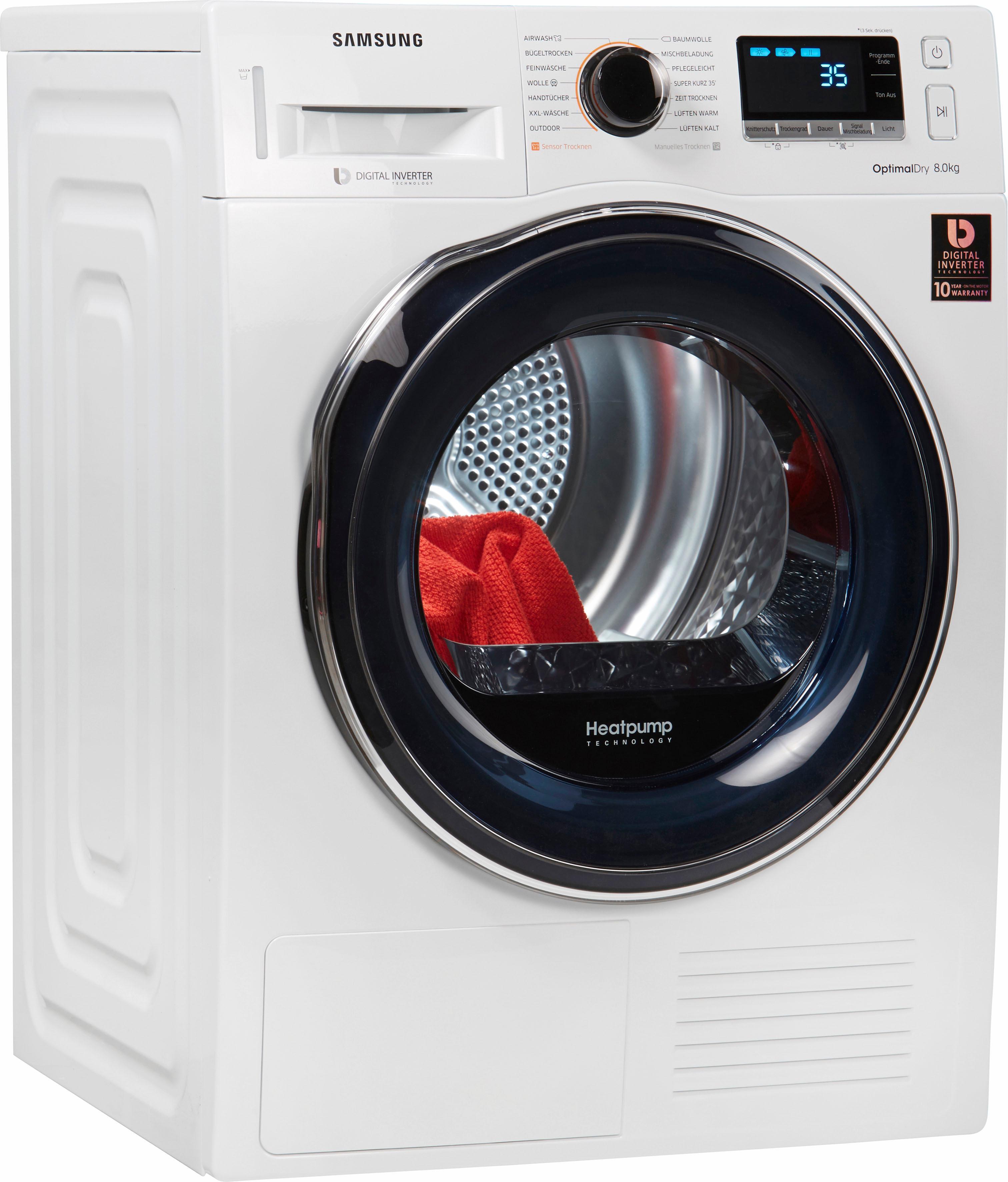Samsung Wärmepumpentrockner DV6800 DV81M6210CW/EG 8 kg | Bad > Waschmaschinen und Trockner | Weiß | Samsung