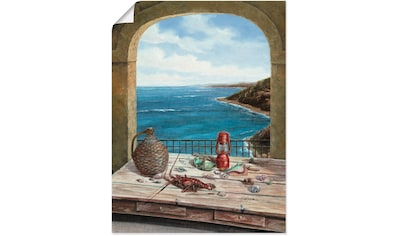 Artland Wandbild »Stillleben am Meer«, Fensterblick, (1 St.), in vielen Größen & Produktarten - Alubild / Outdoorbild für den Außenbereich, Leinwandbild, Poster, Wandaufkleber / Wandtattoo auch für Badezimmer geeignet kaufen