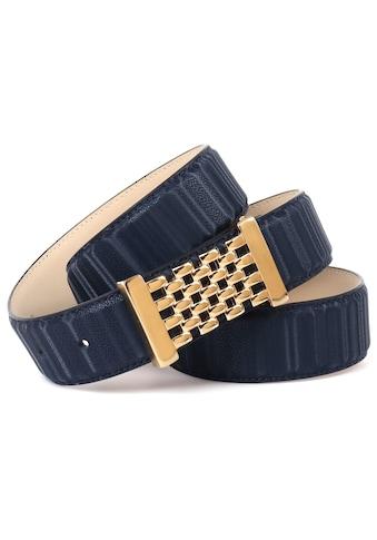 Anthoni Crown Ledergürtel, mit goldfarbener Koppelschließe kaufen