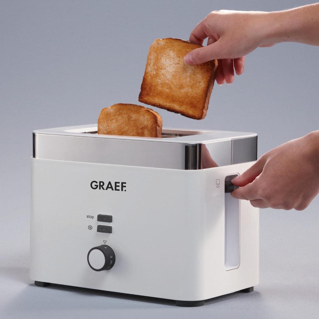 Graef Toaster »TO 61«, 2 kurze Schlitze, für 2 Scheiben, 888 W