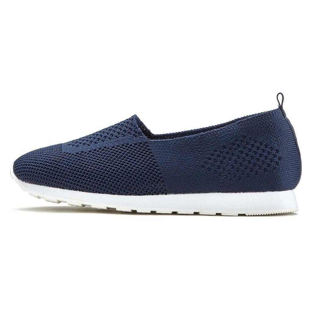 LASCANA Slip-On Sneaker, aus Textil