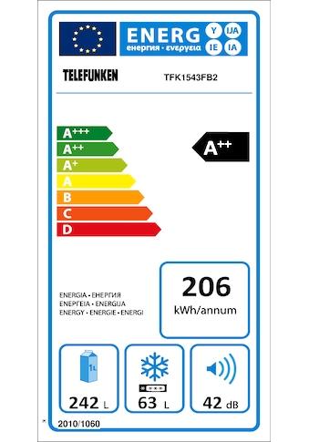 Telefunken Kühl-Gefrierkombination (305 Liter / blau) kaufen