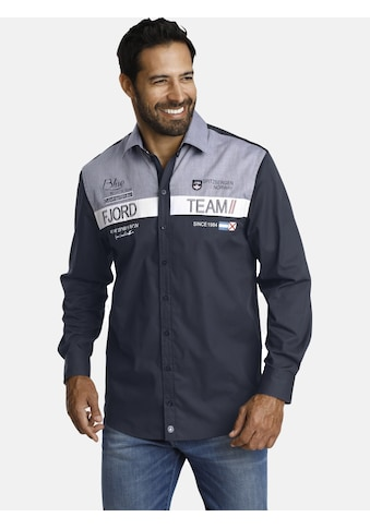Jan Vanderstorm Langarmhemd »BALDUR«, mit großflächiger Applikation kaufen