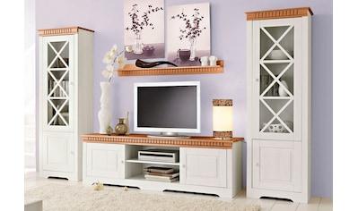 Wohnwand »Lisa«, (Set, 3 tlg.), bestehend aus zwei Vitrinen und einem Lowboard, aus massivem Kiefernholz kaufen