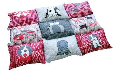 HEIM Hunde - Decke »Patchwork«, BxL: 55x80 cm, gesteppt, rot kaufen