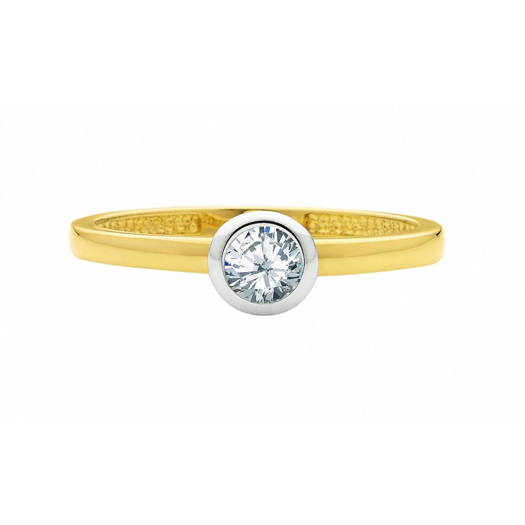 Adelia´s Goldring »333 Gold Ring mit Zirkonia«, 333 Gold Goldschmuck für Damen