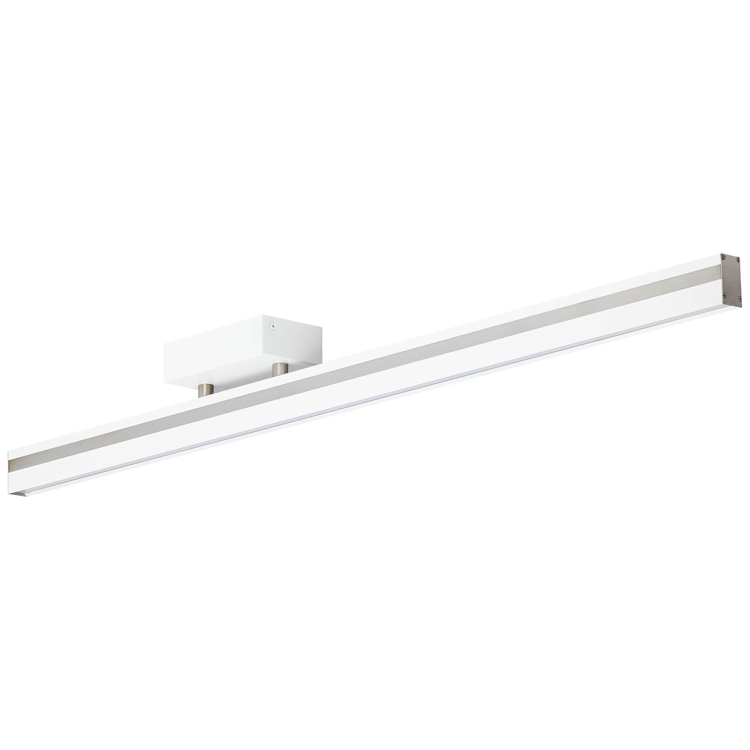 Brilliant Leuchten Slim LED Deckenleuchte 1flg weiß/nickel-matt easyDim