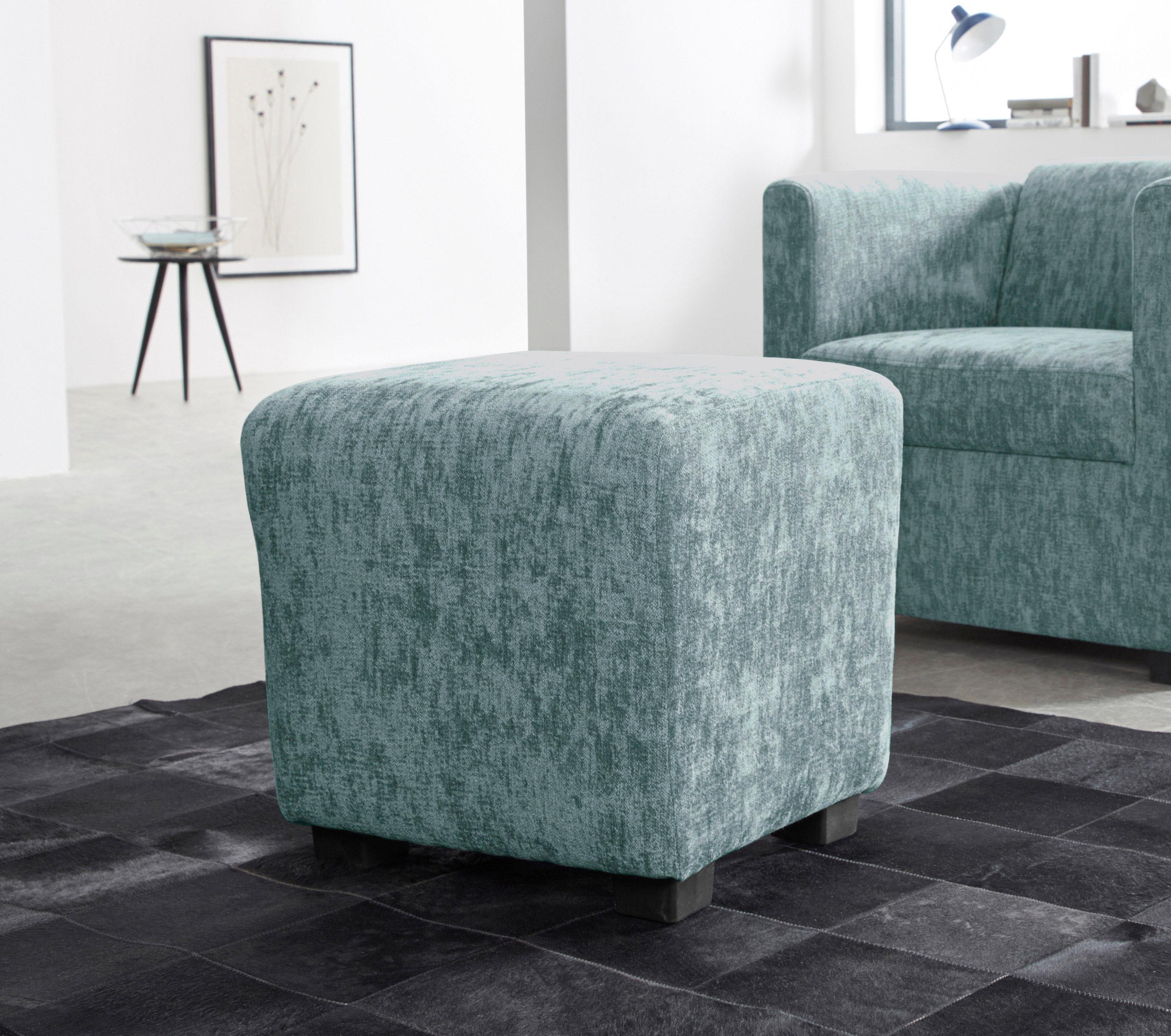 INOSIGN Hocker »Bob«, passend zu den Sesseln der Serie   Wohnzimmer > Hocker & Poufs > Sitzhocker   Microfaser - Chenille   INOSIGN
