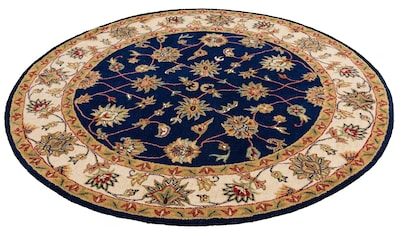 DELAVITA Wollteppich »Sahil«, rund, 14 mm Höhe, reine Wolle, Orientteppich, Wohnzimmer kaufen