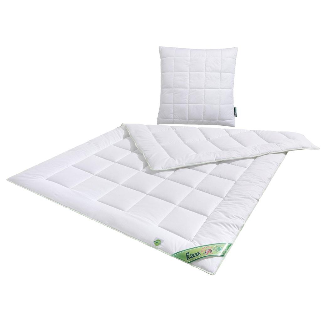 f.a.n. Schlafkomfort Microfaserbettdecke + Kunstfaserkissen »Greenfirst«, (Spar-Set)