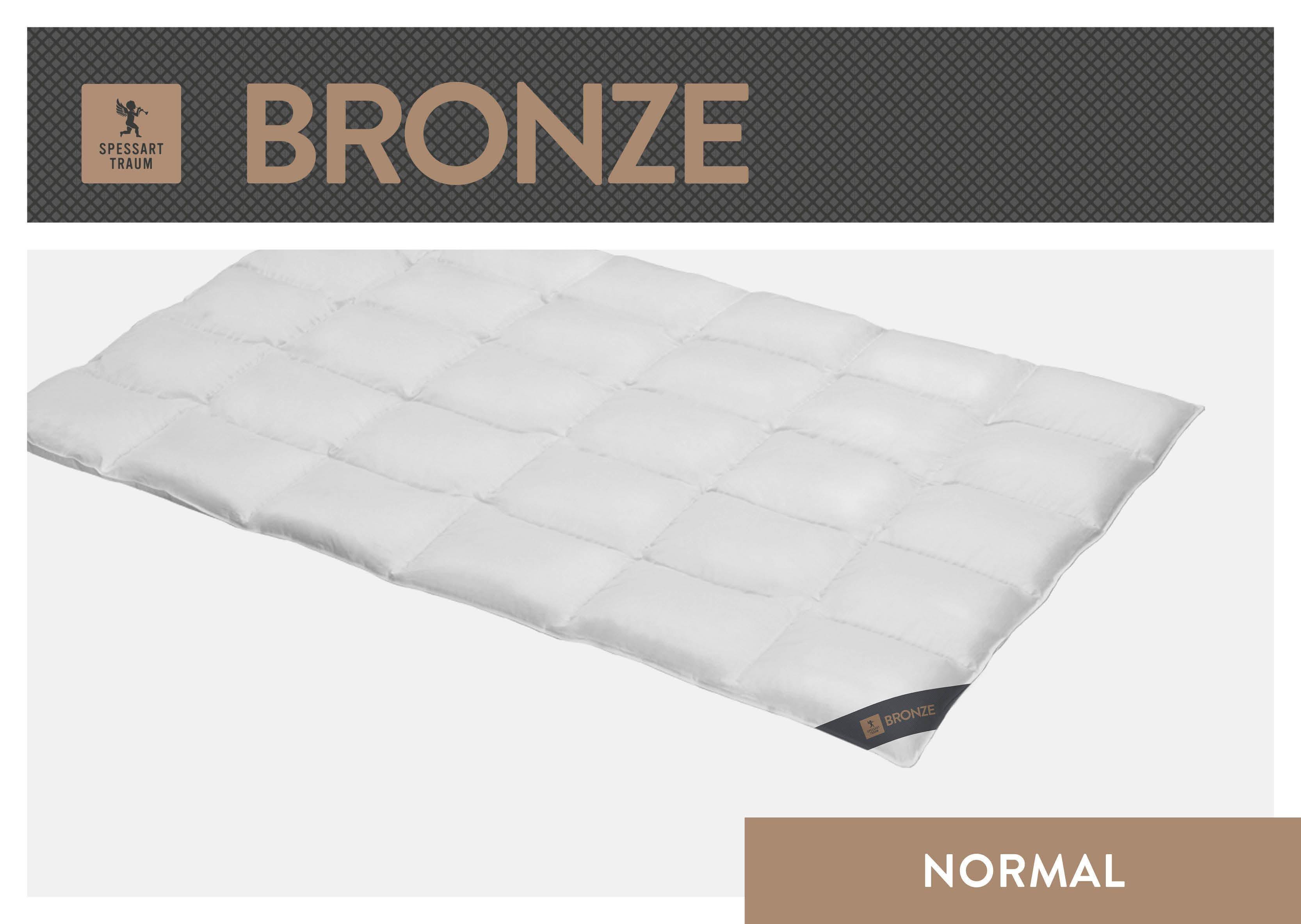 Daunenbettdecke Bronze SPESSARTTRAUM normal Füllung: 90% Daunen 10% Federn Bezug: 100% Baumwolle