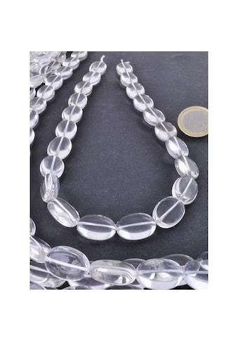 Adelia´s Kette ohne Anhänger »Bergkristall Edelstein Stein Strang ohne Schließe« kaufen