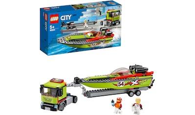 """LEGO® Konstruktionsspielsteine """"Rennboot - Transporter (60254), LEGO® City Great Vehicles"""", Kunststoff, (238 - tlg.) kaufen"""